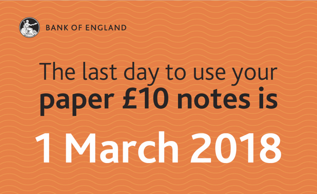 £10 note last day