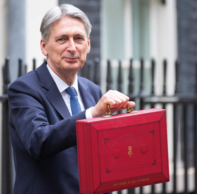 Chancellor Of The Exchequer Philip Hammond leaves number 11 Downing Street on Budget day 2017, London UK.