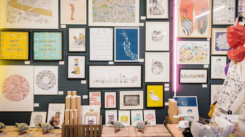 Drive traffic to your retail store by collaborating with local artists and designers.