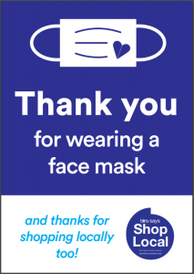 thank you face mask poster by Bira