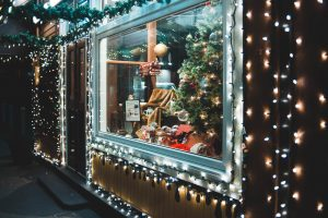 A guide to preparing for Christmas in post-Covid retail shop window at Christmas